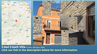 3-bed 2-bath Villa for Sale in Fraine, Abruzzo, Italy on italianlife.today