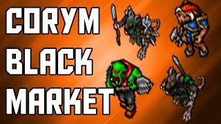 [Tibia Where to Hunt – EK 35+] Corym Black Market (160k/hr @ 60)