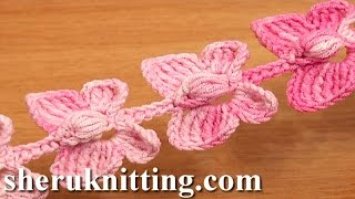 Repeat youtube video Crochet Butterfly Cord Tutorial 52 Crochet Butterflies