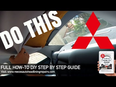 Mitsubishi Magna Sagging Headliner Repair | DIY HOW TO FIX CAR'S ROOF LINING