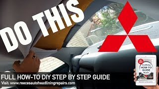 Mitsubishi Magna Sagging Headliner Repair | DIY HOW TO FIX CAR