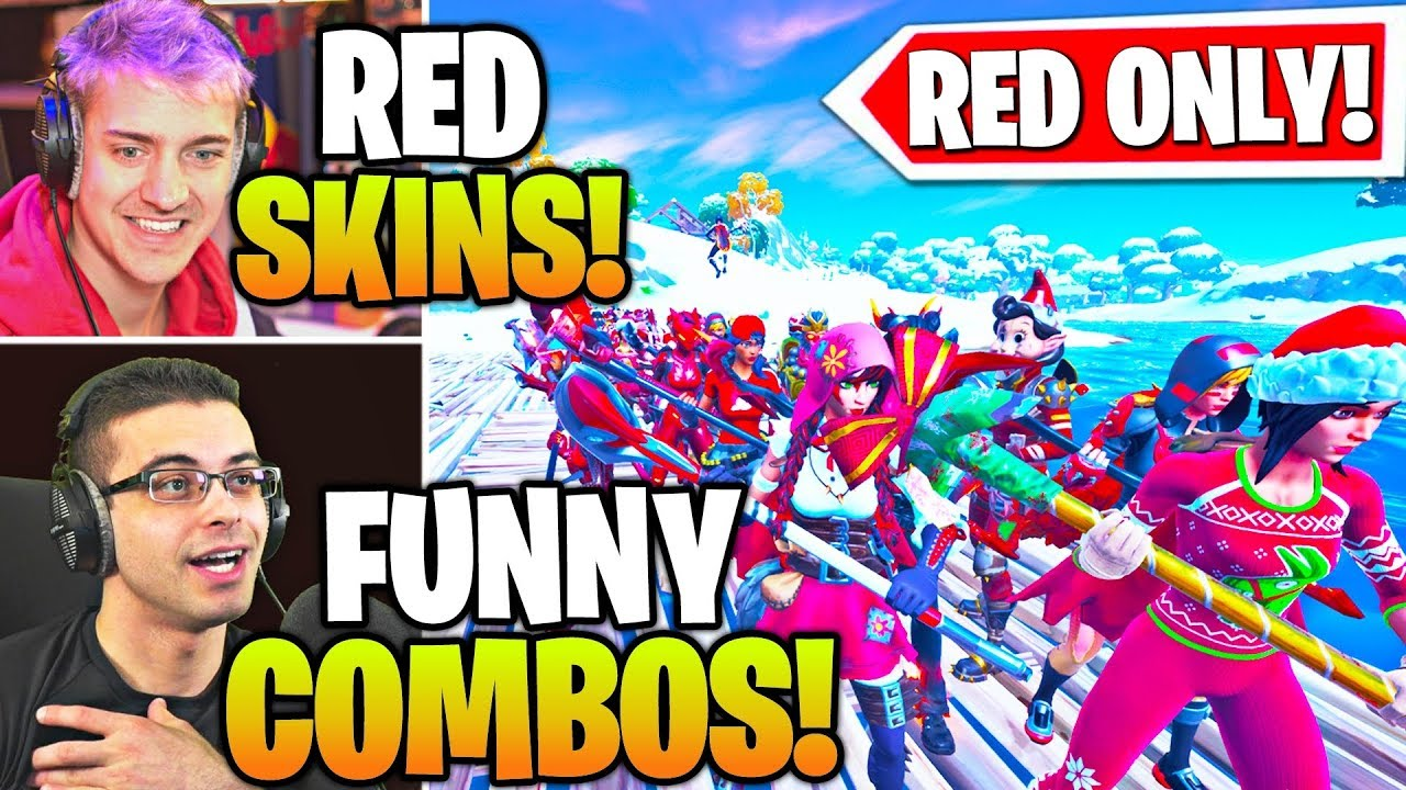 Streamers Host LARGEST RED ONLY SKIN & EMOTE Contest ...