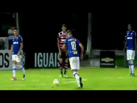 Gols Santa Cruz 4 x 1 Cruzeiro, Brasileirão Série A 2016 - 25/05/2016