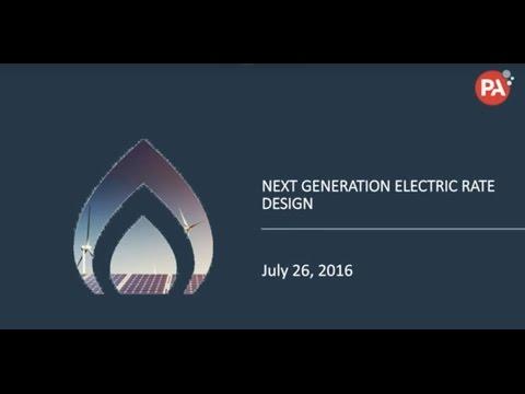 Next generation electric rate design
