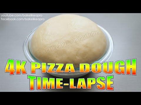 4K Rising Pizza Dough TIME LAPSE - SUPER COOL !