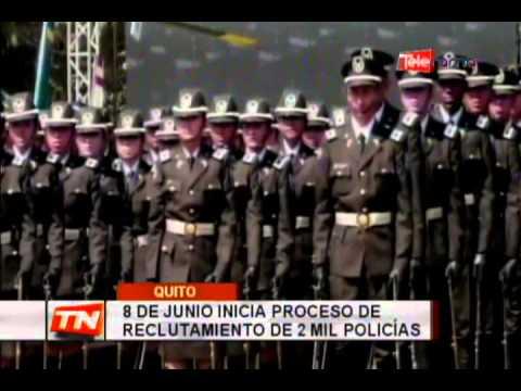 8 de junio inicia proceso de reclutamiento de 2 mil policías
