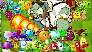 Every Plant Power Up vs Gargantuar Porter Zombie in Plants vs Zombies 2 Gameplay