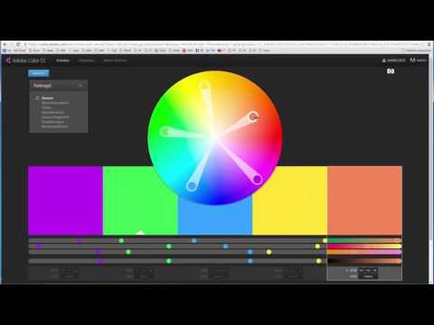 Harmonische HTML Farben Finden Mit Dem Adobe Color Wheel