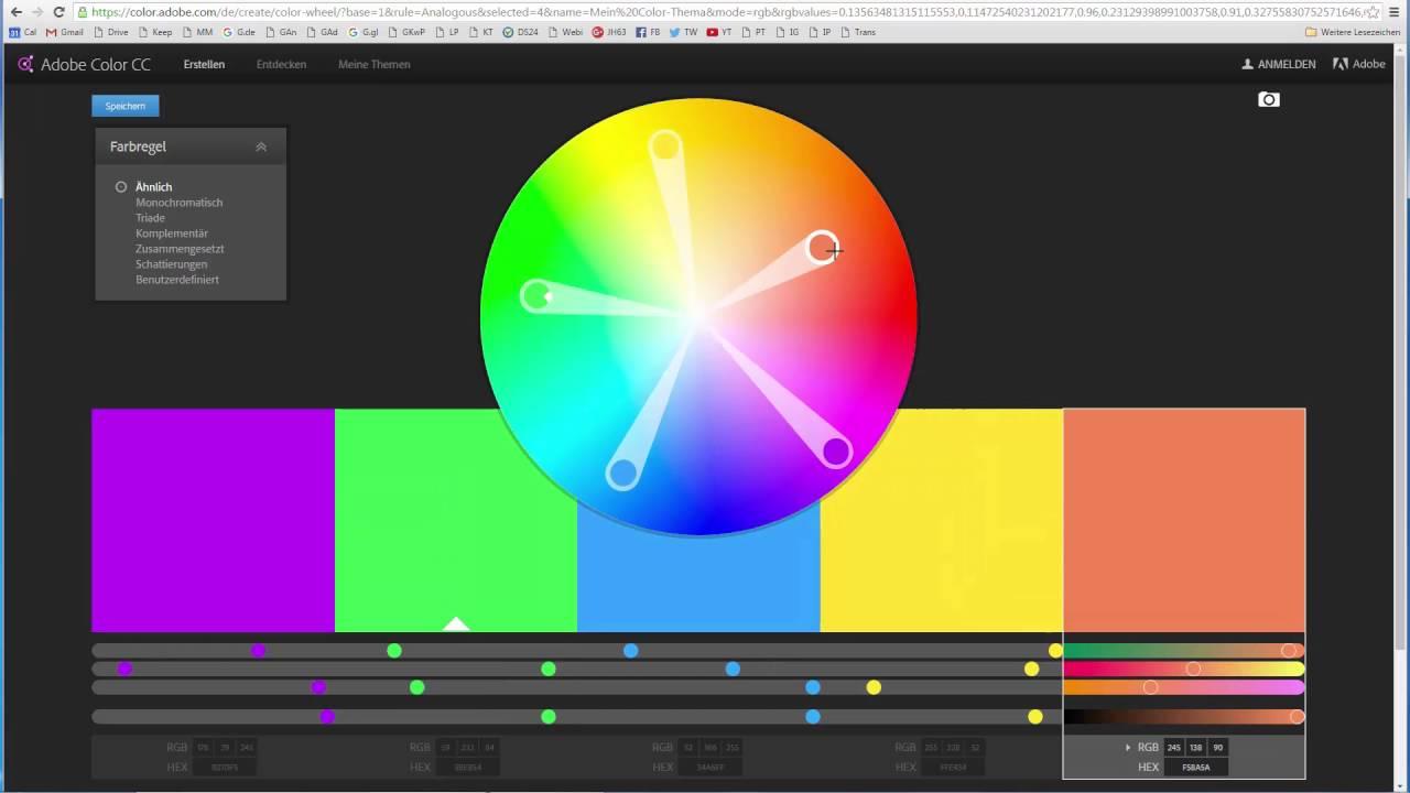 Harmonische Farben