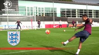 STUNNING VOLLEYS! | Pickford vs Ibe, Redmond, Loftus Cheek | U21 England Shooting | Inside Training