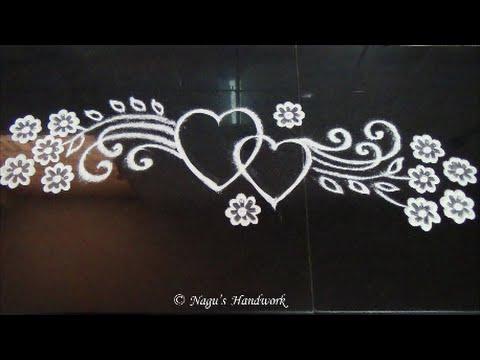 Free hand rangoli design border rangoli design by nagu s handwork