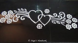 Free Hand Rangoli Design-Border Rangoli Design By Nagu's Handwork