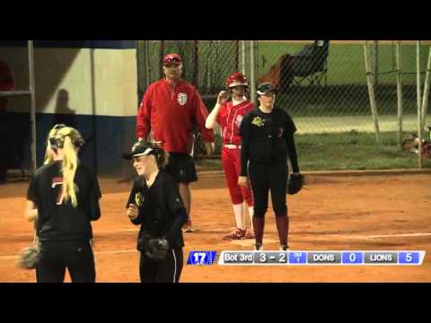 Katie Simonsgaard - Catch in RF Saves 2 Runs (3/11/2016)