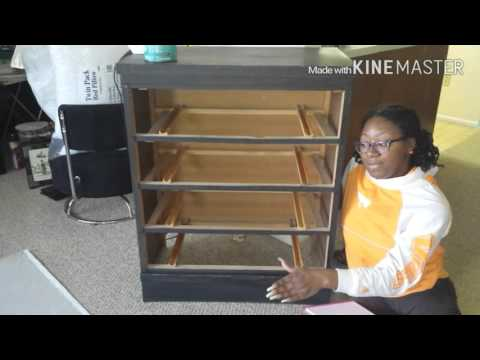 Bedroom Remodel: Fabric Covered Dresser