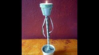 Craft Ideas For Summer: Summer Candle Holder Tutorial