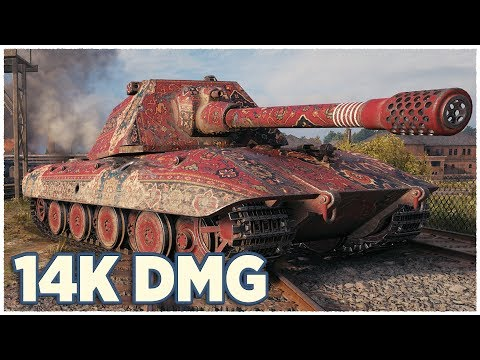 E 100 • OVER 14K DAMAGE • WoT Gameplay