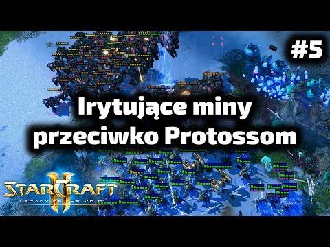 Bardzo irytujące Protossa szybkie miny - Terran poradnik - Widow mine opening TvP #5
