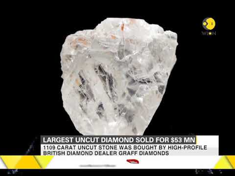 World's largest uncut diamond sold for $53 million