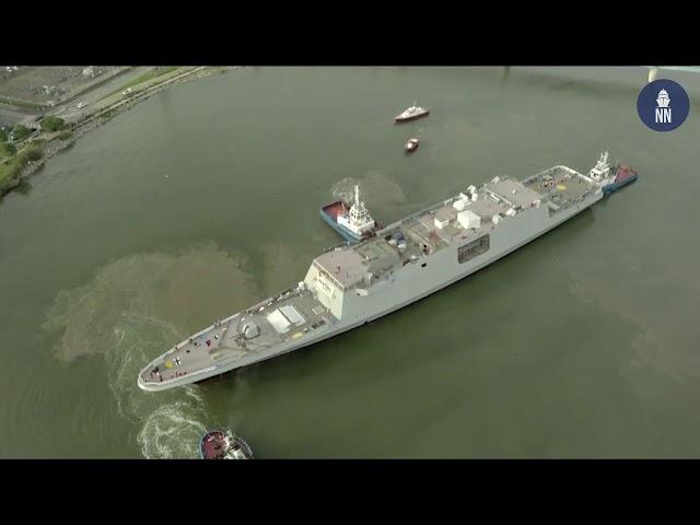 Naval Group met à flot la frégate Lorraine, dernière FREMM pour la Marine Nationale