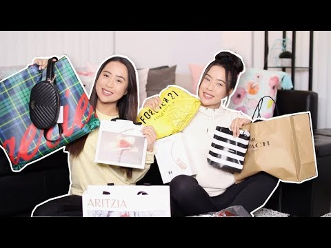 WHAT WE GOT FOR BOXING DAY 2018! Shopping Haul + GIVEAWAY!! | Caleon Twins