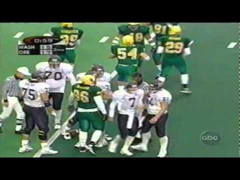 Oregon DE Saul Patu sacks UW QB Brock Huard 11-07-1998