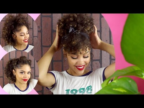 "3 ""RETRO "" QUICK BUN HAIRSTYLES FOR CURLY HAIR"
