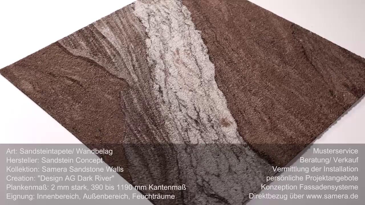 Exklusive Samera Sandsteintapete Wandbelag Design Dark River