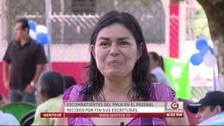 Gentevé Noticias - Excombatientes del FMLN en El Paisnal reciben escrituras