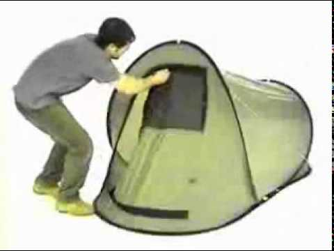 & How to fold a pop up tent - YouTube