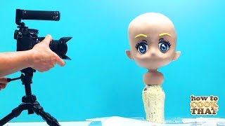 Turn your BFF into a  CHIBI CAKE with jiggly hair | 3d gravity defying | how to cook that