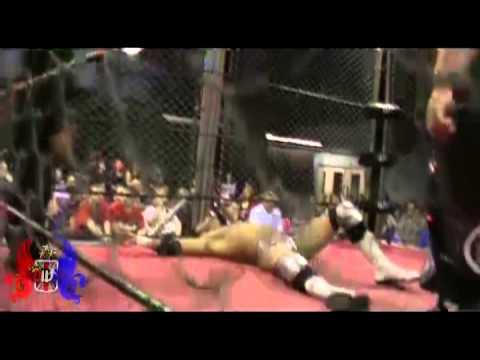 Cyanide Vs Dylan Roberts - Steel Cage Match - British Wrestling - Welsh Wrestling