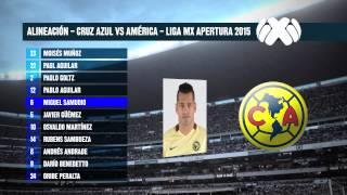 Alineación América vs Cruz Azul Jornada 7 Apertura 2015