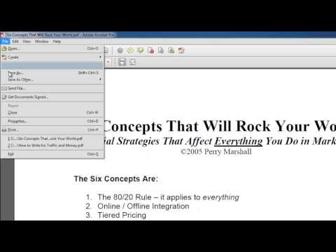 How to Convert PDF to Word in Acrobat XI
