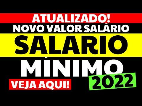 [ATUALIZADO!] SALÁRIO MÍNIMO 2022 | VALOR DO SALARIO MINIMO 2022