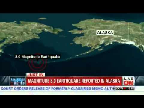 BREAKING NEWS | Tsunami  warning issued for Alaska after quake - 6/23/2014