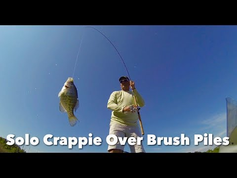 Going Solo Catching Crappie Over Brush Piles