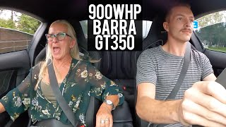 Scaring my Mom in my 900WHP Mustang! (Barra GT350)