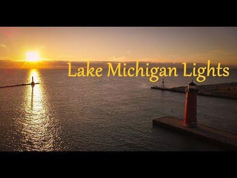 Lake Michigan Lights   4k   DJI Mavic Pro