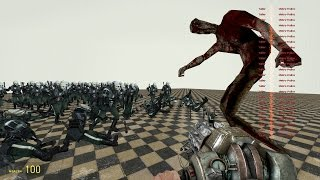100 Metrocops vs Cry of Fear SNPCs in Garry's Mod