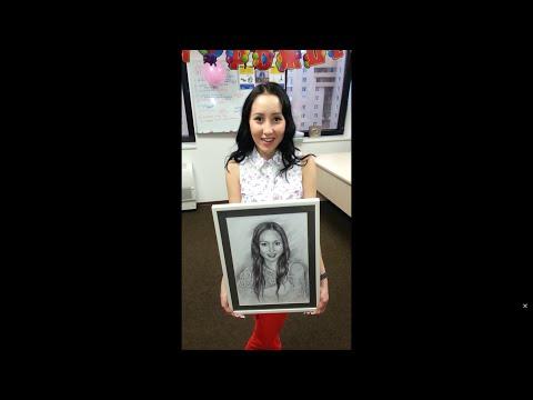 Что подарить девушке на день рождения  Портрет по фото на заказ