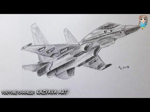 Как нарисовать истребитель су 27