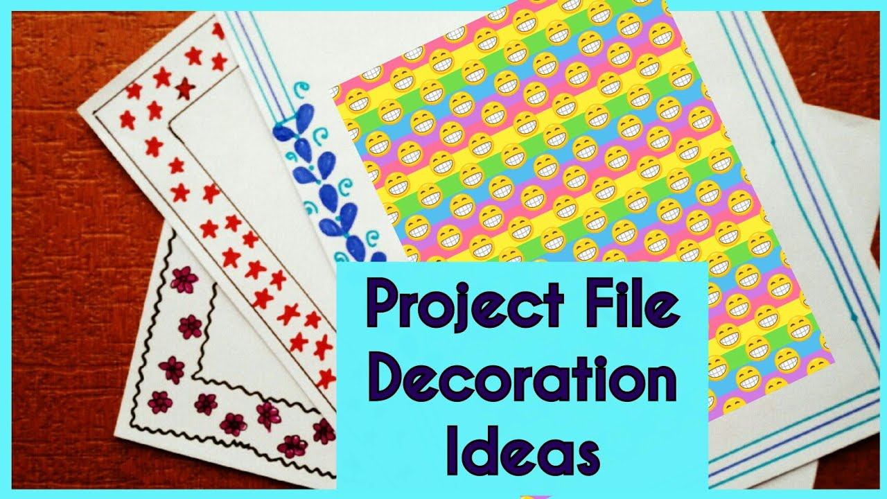 Book Cover Design Project : Project file design decoration ideas new border