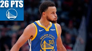 Steph Curry leads Warriors with 26 points and 11 assists vs. the Pelicans | 2019-20 NBA Highlights