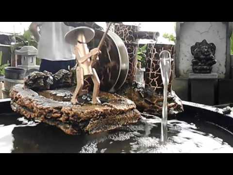 Air mancur bambu memancing