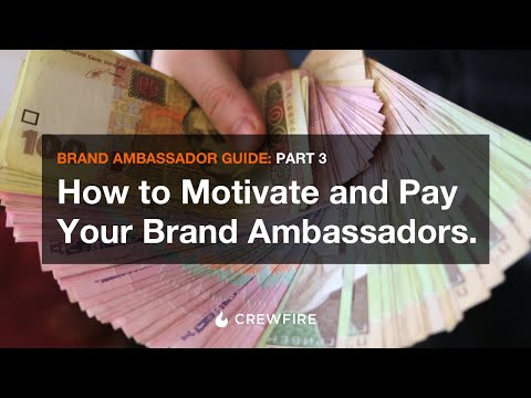 How to motivate (or pay) your brand ambassadors or street marketing team. Mp3