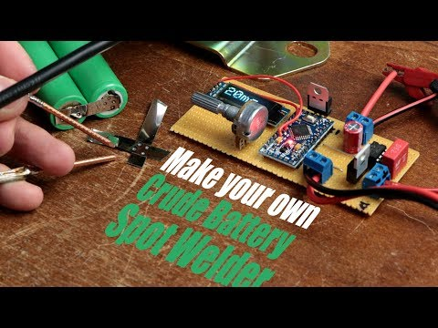 Make your own Crude Battery Spot Welder with a Car Battery!