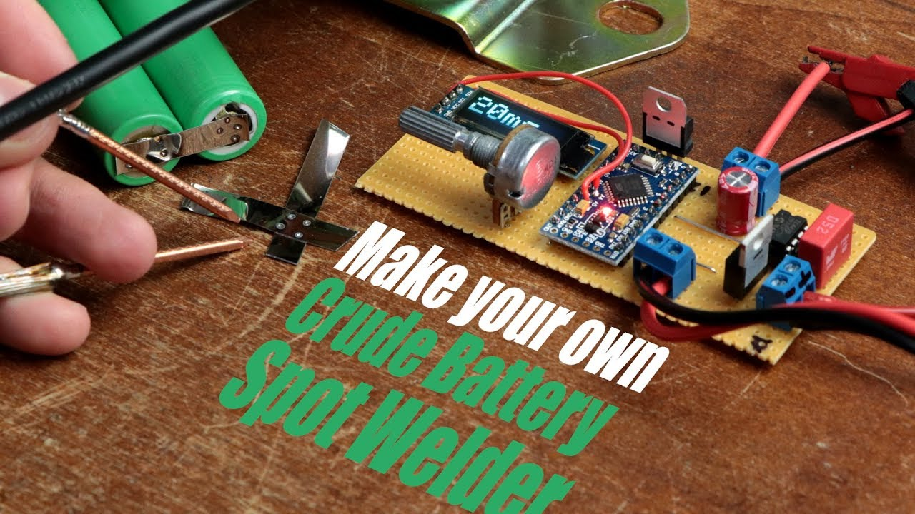 Make Your Own Crude Battery Spot Welder With A Car Battery Youtube