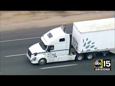 LIVE: California Highway Patrol in pursuit of a semi-truck.