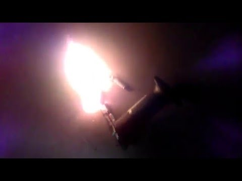 Lithium battery burning violently
