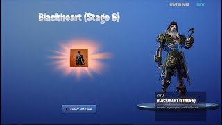 'NEW' UNLOCKING BLACK HEART (Stage 6) sur Fortnite Battle Royale Saison 8